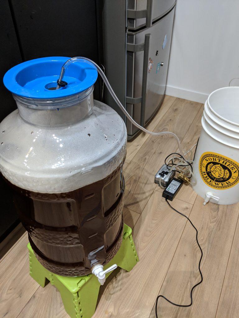 Oxygénation du moût avant fermentation.